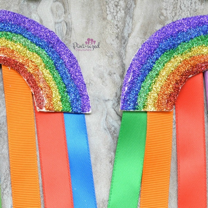 easy rainbow wand craft for St. Patrick's Day