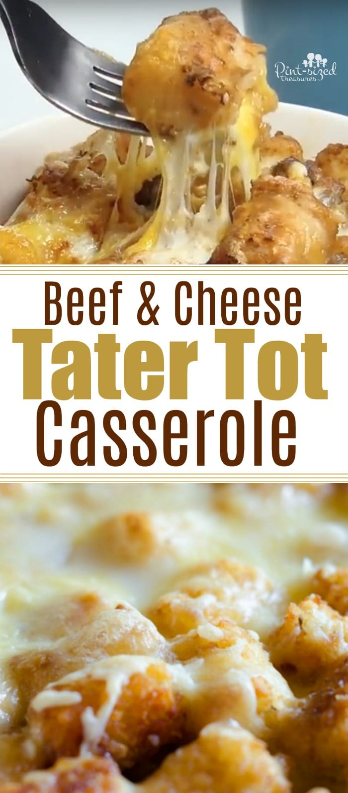 Tater tot fans will LOVE this beef and cheese tater tot casserole that's packed with spices, homemade cream sauce, cheese, beef and tater tots! Indulge in a comfort food ,family-style casserole! #casseroles #tatertotcasserole #heartycasserole #familymeals #easydinneridea #easydinnerrecipe #comfortfood #familytable #cheesymeals #cheesycasserole #easycasserole