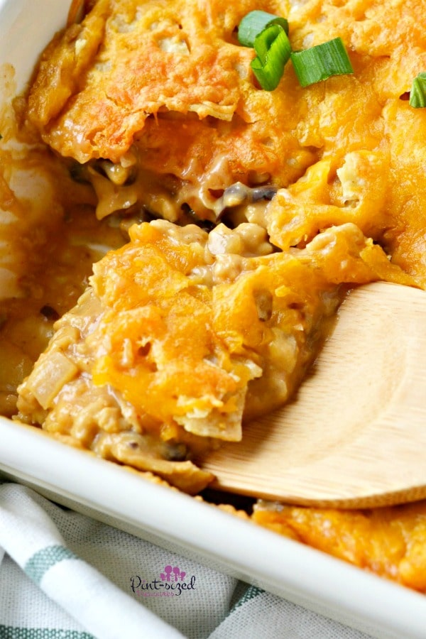 Easy, Southwestern Taco Casserole is a favorite dinner recipe for comfort food loving families! #Southwestern #southwesternrecipes #tacorecipes #tacocasserole #easycasserole #TexMexfood #Mexicanfood #Mexicanrecipes #easydinnerrecipe