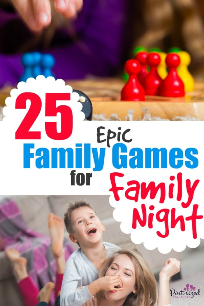 25 Epic Family Games to make your Family Night absolutely the BEST ever! Prepare for giggles, hugs and crazy-amazing memories! #parenting #familynight #familygames #activitesforfamilies #familyfun #gamesforkids #relationships #familymemories #motherhood #raisingkids