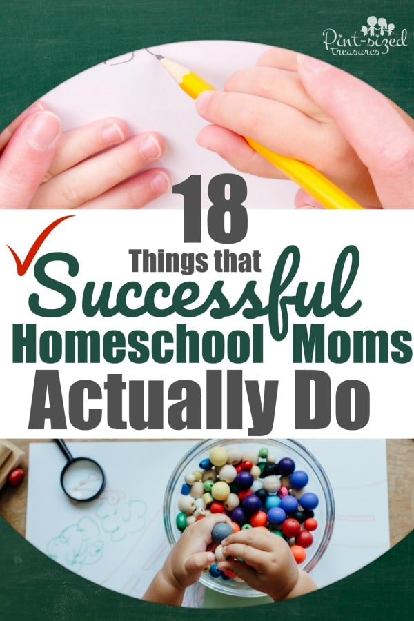 There are certain habits, decisions and secrets that make a homeschool mom successful. Check out these 18 things  that successful homeschool moms actually do! #homeschool #homeschoolinghelp #homeschoolmoms #helpformoms #motherhood #teachingkids #momswhoteach #momswhohomeschool #homeschoolfamily #familytips #mommyblog