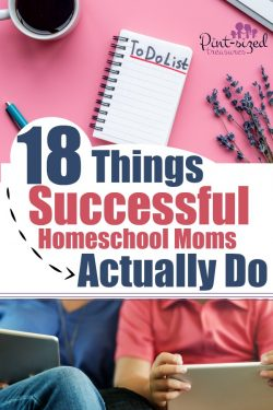 The secret sauce to being a successful,homeschool mom is shared in these 18 tips! #homeschool #homeschoolhelps #homeschoolmoms #parenting #parentingtips #momtomom #teachingkids #homeschooler