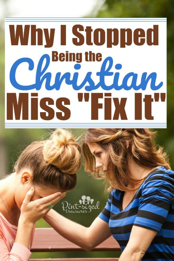 "About ten years ago I decided to leave my old life behind. The life of being a Christian Miss ""fix it."" I had learned that everyone didn't need me to ""Fix"" them --- instead they needed prayer, love, a listening ear and truth that came from a heart of compassion. #christianmoms #christiantruth #devotional #faith #devotionsforwomen #bible #christianwomen #truth #brotherlylove #charity #kindness"