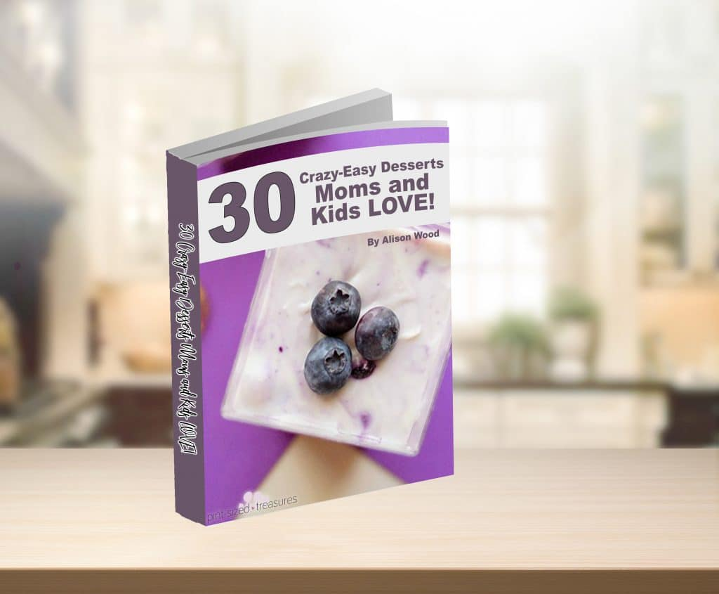 Crazy-easy desserts (30 total!) that moms and kids love ---allwrapped into one gorgeous recipe book! #recipebook #easydesserts  #easyrecipebook #digitalrecipebook #recipebooksformoms