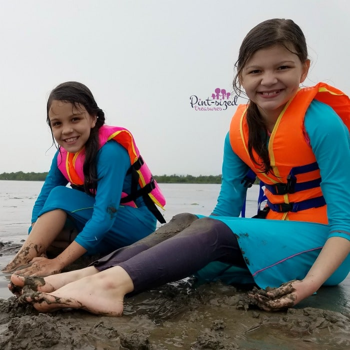 playing in sand in cambodia