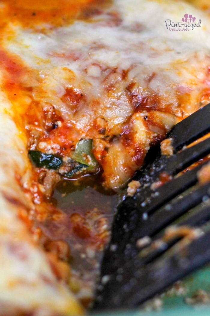 Easy zucchini lasagna that's on the Keto diet!