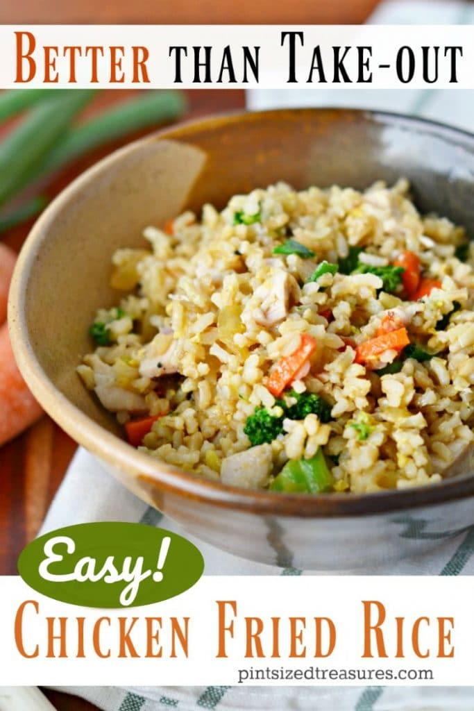 Easy chicken fried rice that's better than your favorite take out version!