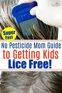 Lice....the word all moms dread! Check out a super fast, no pesticide guide that really works! #lice #parentingtips #backtoschool 3parenthelp #parenthack #momhack #hairhelp
