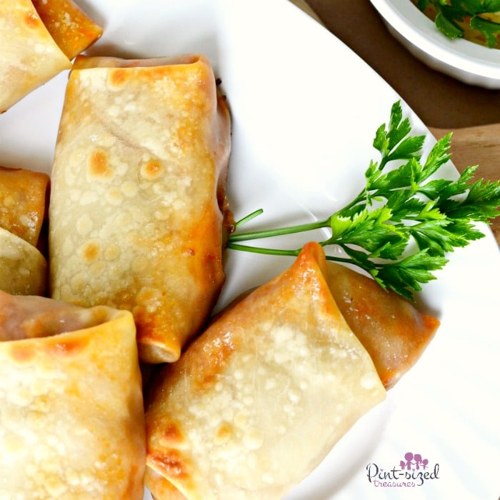 pizzaa egg rolls recipe