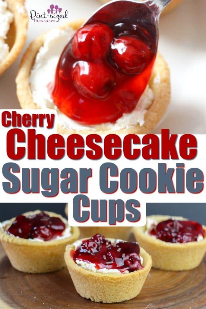 Cherry Cheesecake Sugar Cookie Cups