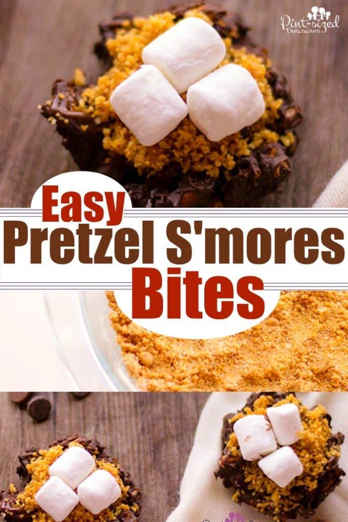 Easy Pretzel S'mores Bites
