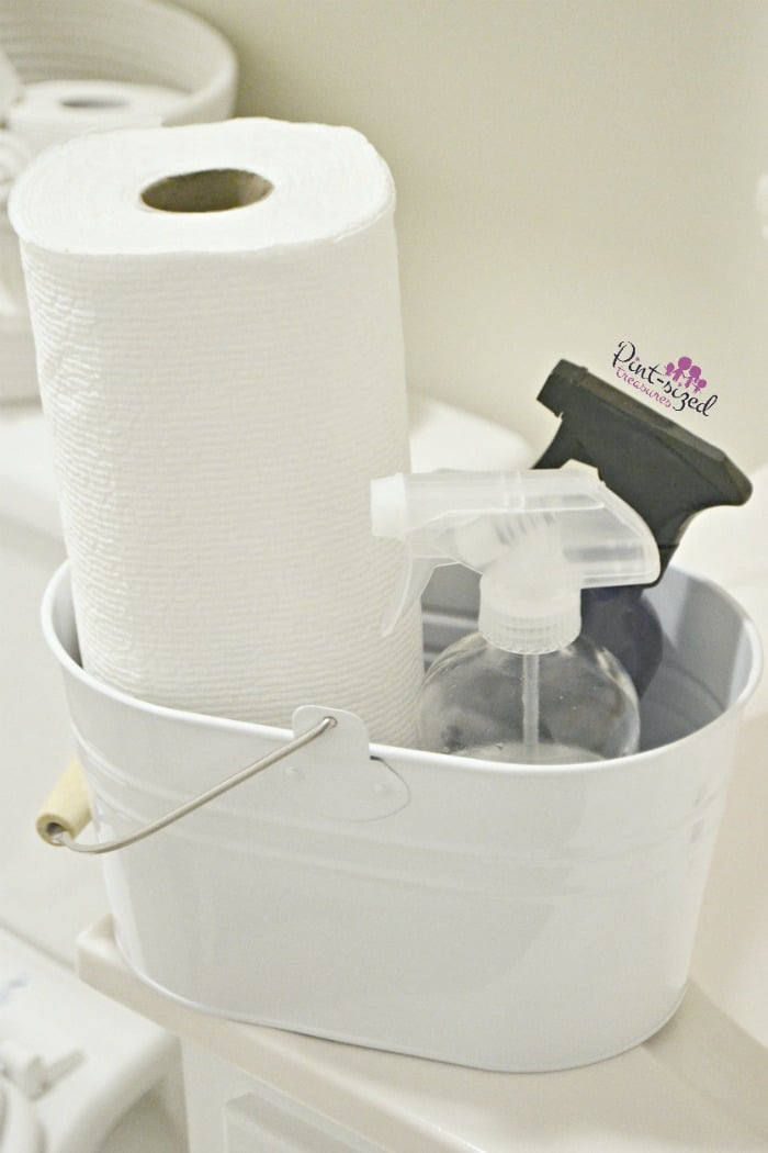 Cleaning routine materials for the bathroom