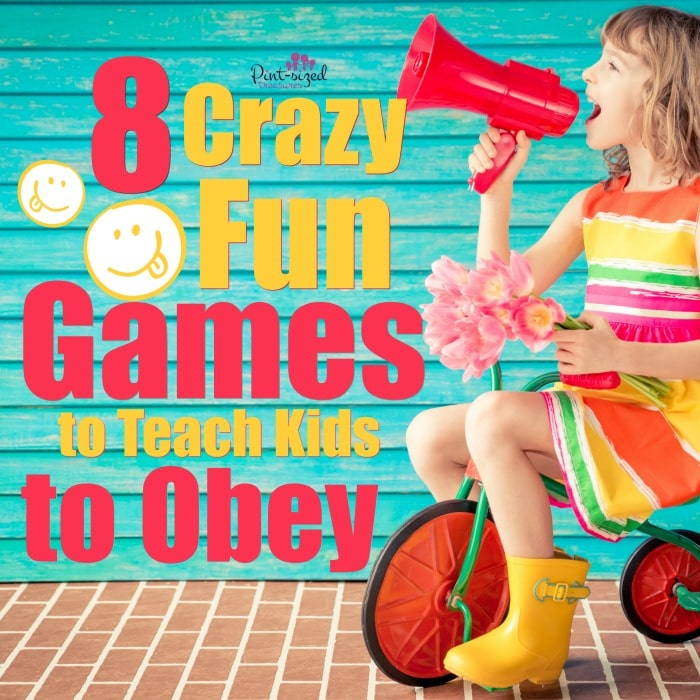 Think teaching kids to obey has to be BORING? These games are crazy-fun and they teach your kids the important lesson of obeying the leaders in their life! #teachkingkids #parenting #Parentinghacks #raisingkids #gamesforkids #gamesthatteach