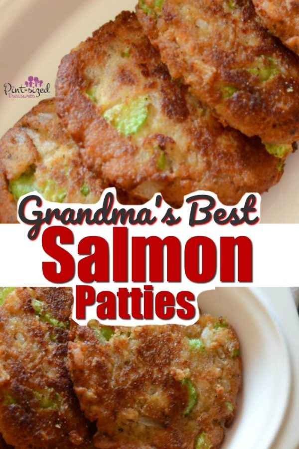Grandma's best salmon patties are one of my favorite family recipes that my grandmother made regularly. You'll love the spices and the perfect crunch that makes these salmon croquettes an amazing comfort food recipe! #salmon #salmonrecipes #salmonpatties #familyrecipes #dinnerrecipes #southernrecipes #traditionalsalmonpatties #salmoncroquettes #easyfamilyrecipe #easyrecipes #easysalmonrecipe