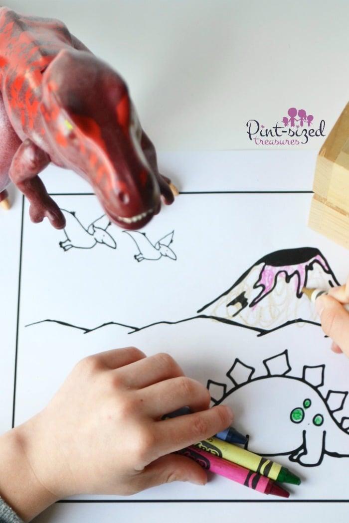 coloring dinosaur coloring sheets