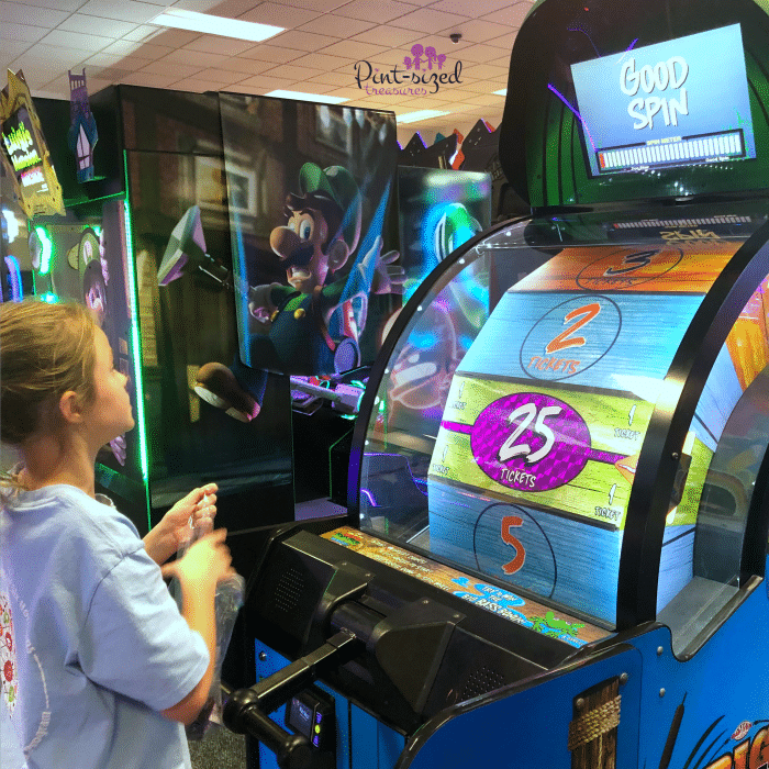 Playing games at Chuck E. Cheese's Greenville, SC