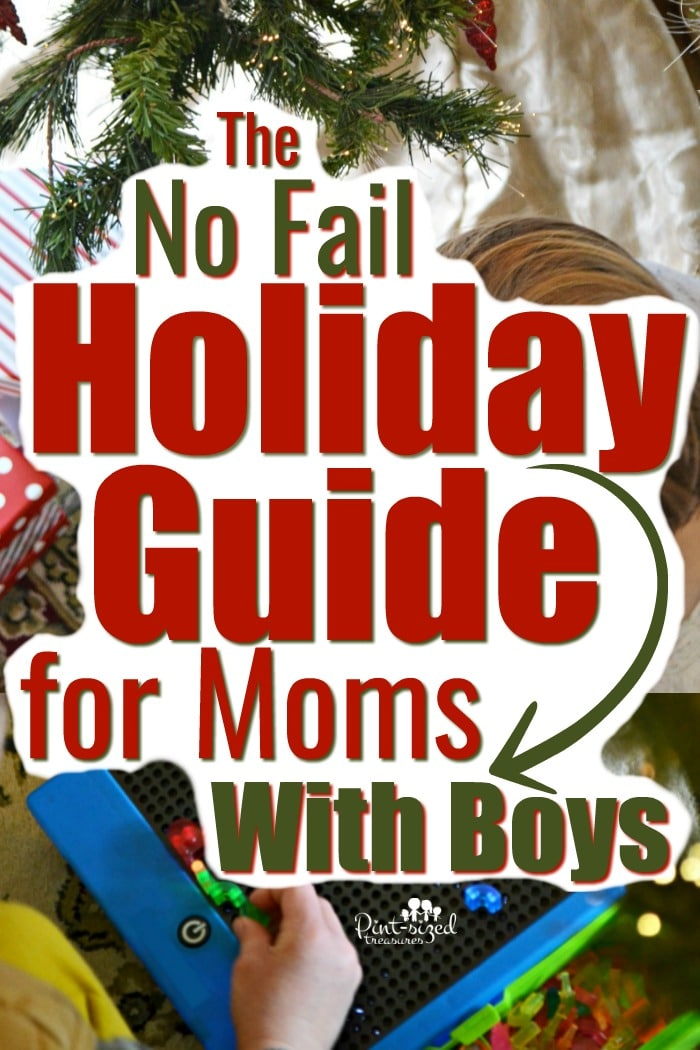 This no fail holiday guide for moms with boys with help prepare your family for the best Christmas yet! #holidayguide #boymom #moms #motherhood #holidays #christmas #holidahacks #christmaswithkids