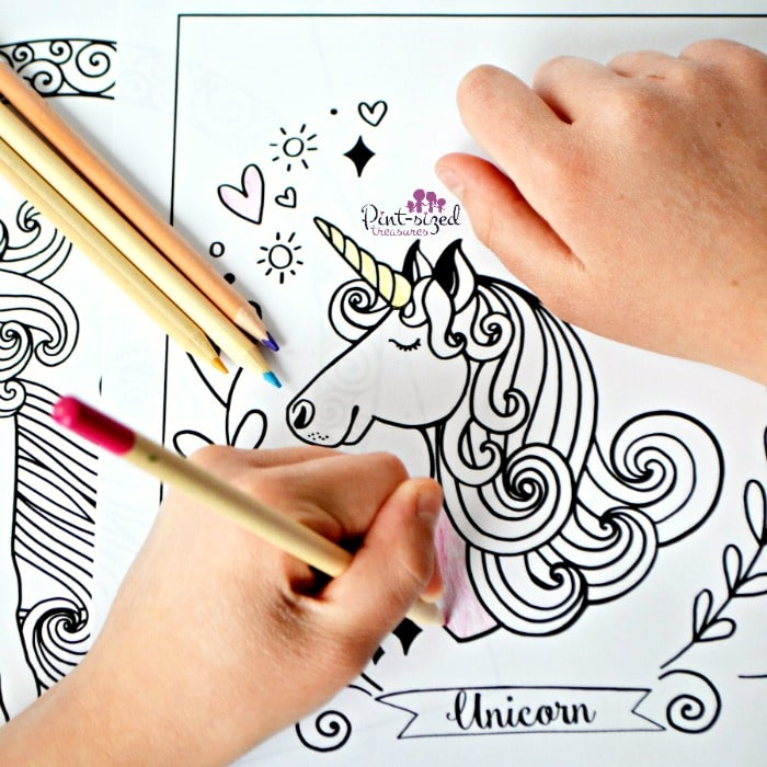 Unicorn coloring sheets that are printable