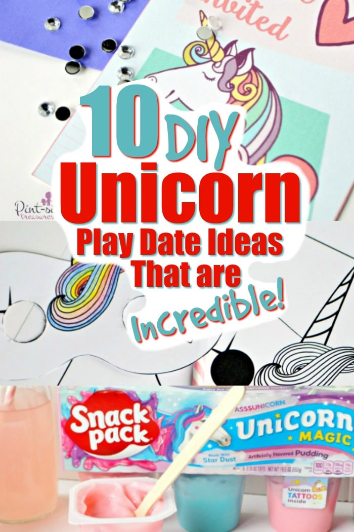 Unicorn play date ideas that are incredible creative! You'll love the stash of unicorn printable, snack ideas and magical ideas fit for a unicorn!