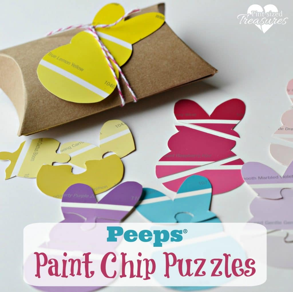 peeps paint chip easter puzzle craft
