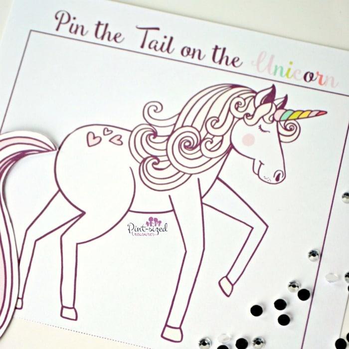 Printable unicorn game