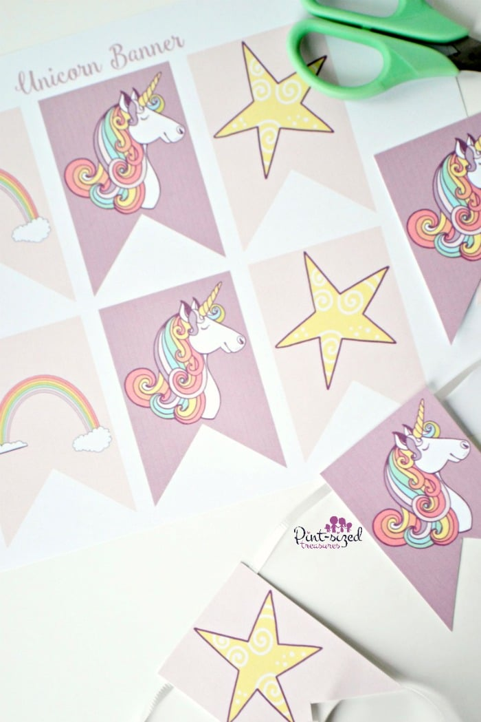 Printable unicorn banner