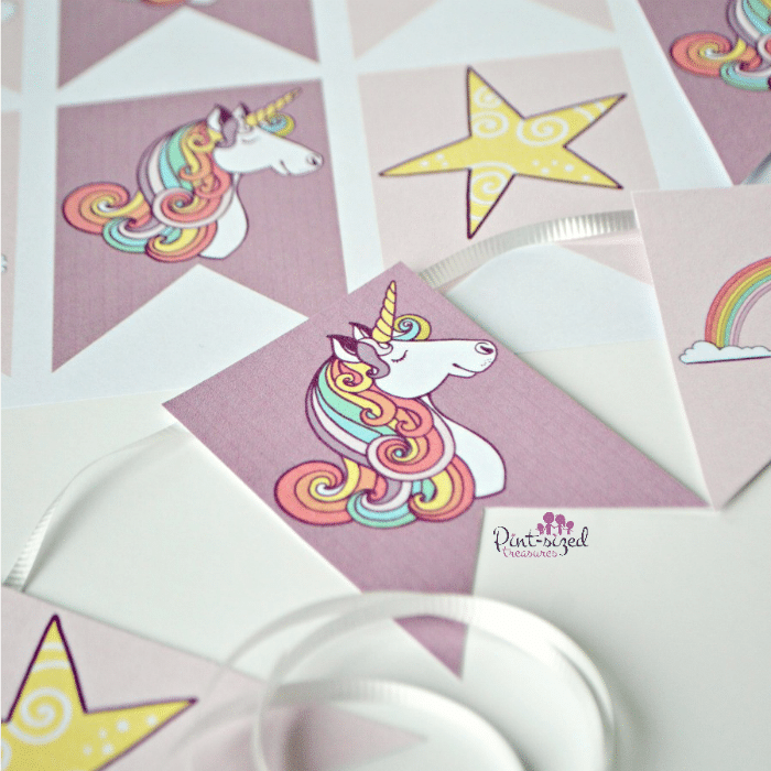 Unicorn banner that's printable