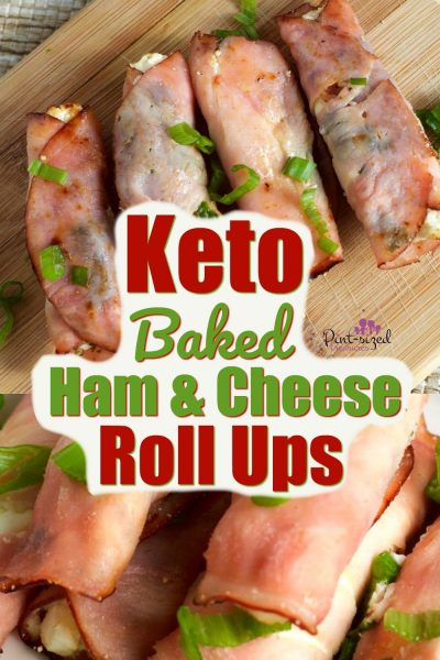 Easy Keto Baked ham and cream cheese roll ups