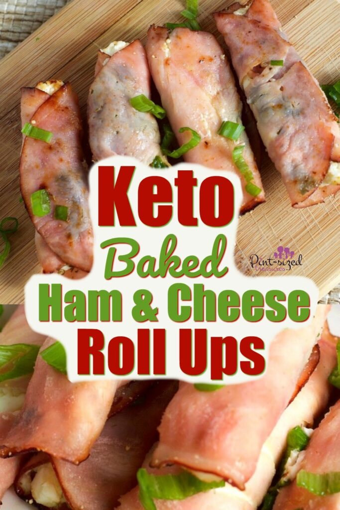 Keto Easy Baked Ham and Cream Cheese Roll Ups