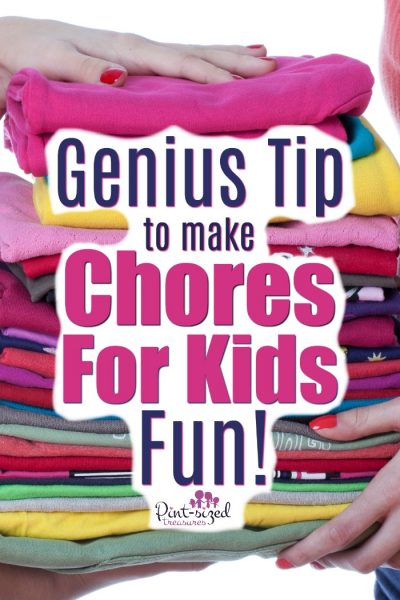 Love this genius tip to make chores for kids FUN!