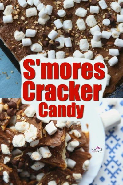 S'mores cracker candy recipe is super simple, quick and packs in all your favorite flavors of marshmallows, chocolate and graham crackers into one candy recipe!