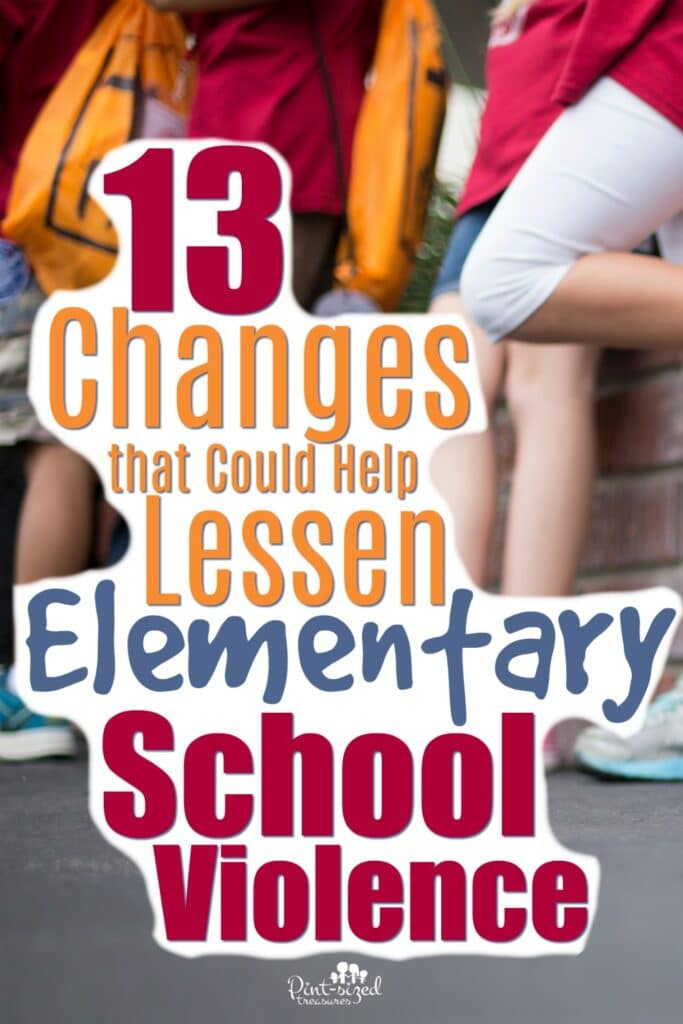Violence in elementary schools should not even be happening. Our elementary schools should be a safe and peaceful place for teachers, students and staff. Could these 13 changes lessen elementary school violence? Some teachers say YES!