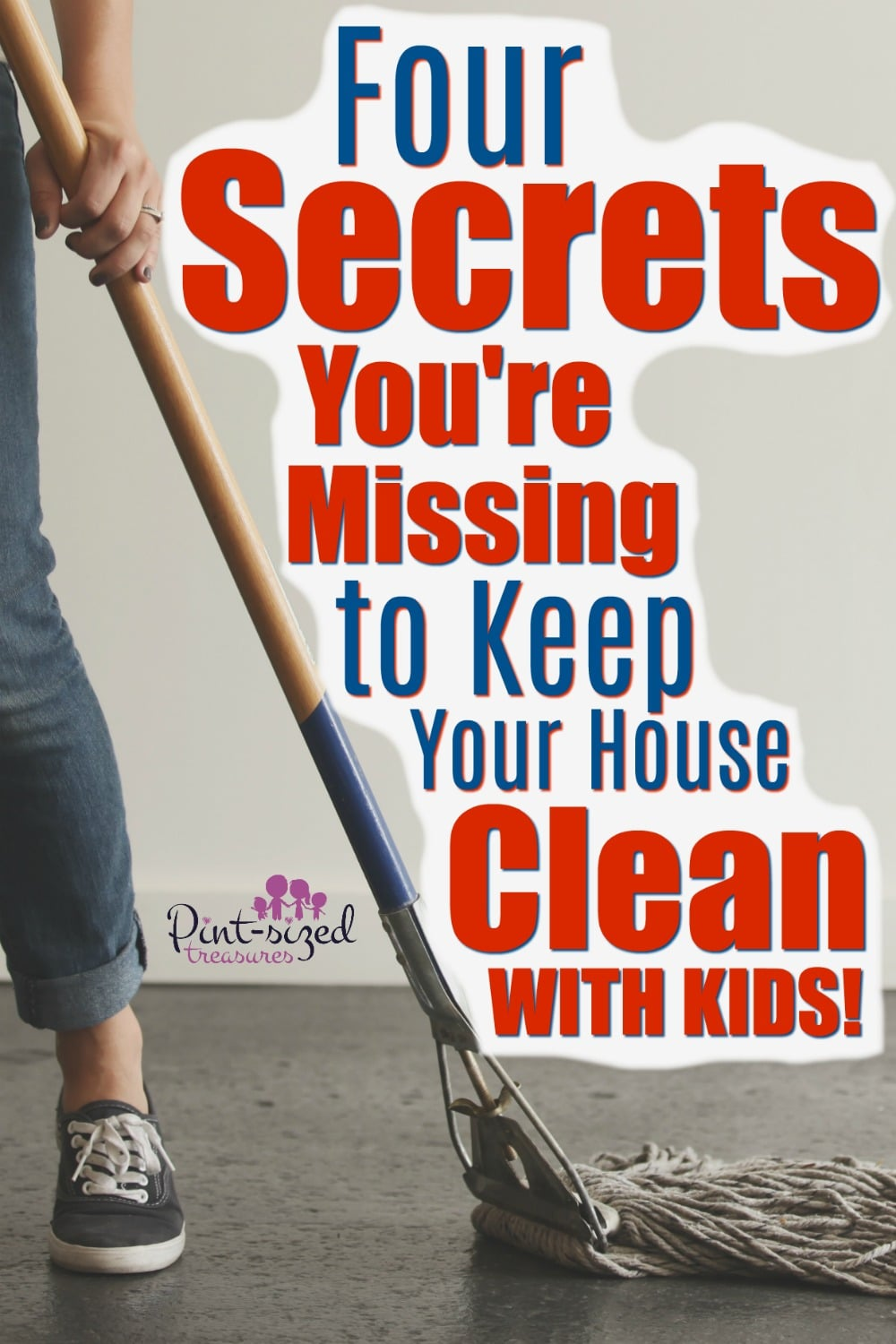 There are four secrets you could absolutely be missing about keeping your house clean when you have kids in the house! It IS possible to keep your house clean when kids are still living in your house, so find out HOW and what secrets you're missing about having a clean home!
