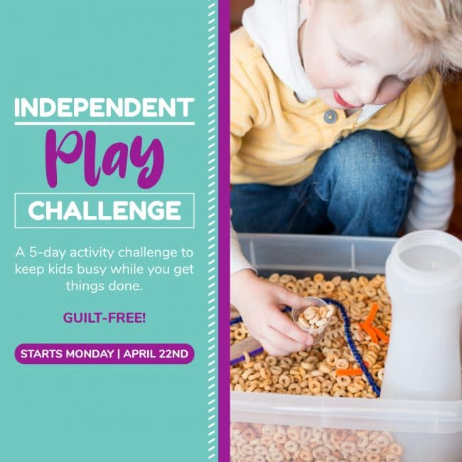 Activity challenge for toddlers and preschoolers