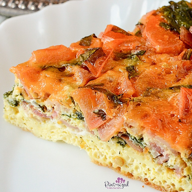 You'll love this spinach filled frittata!