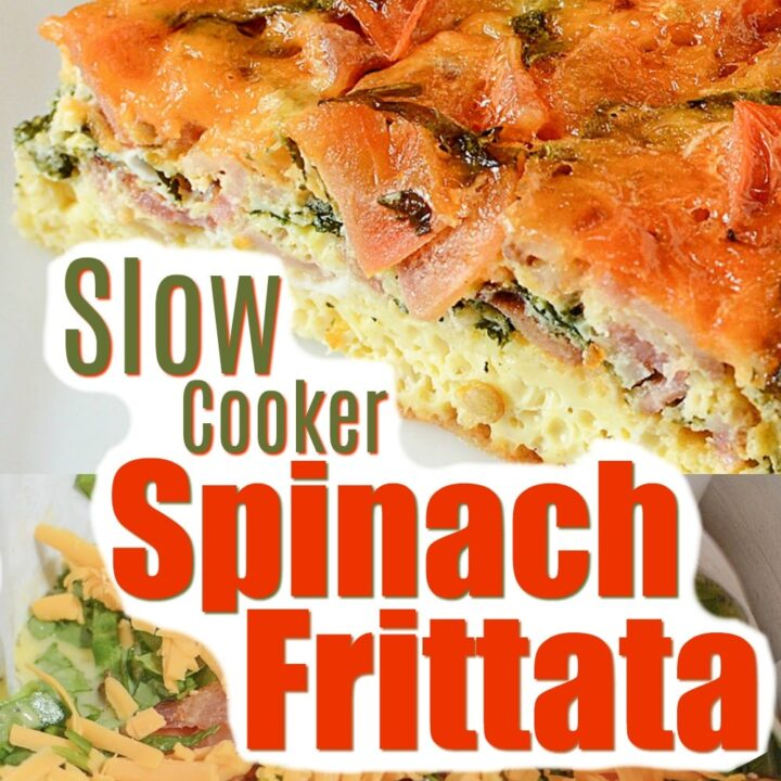 Spinach, cheese, eggs and other simple ingredients create the perfect, slow cooker spinach frittata! Grab your crock pot and get ready to create an amazing spinach frittata recipe!