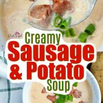 This hearty sausage and potato soup is ready in minutes and uses simple ingredients!