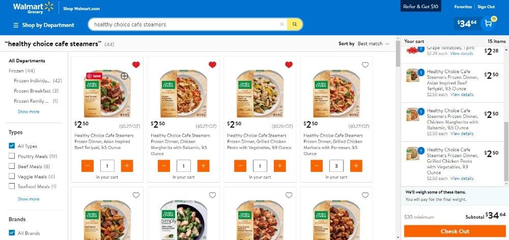 Ordering meals for summer online