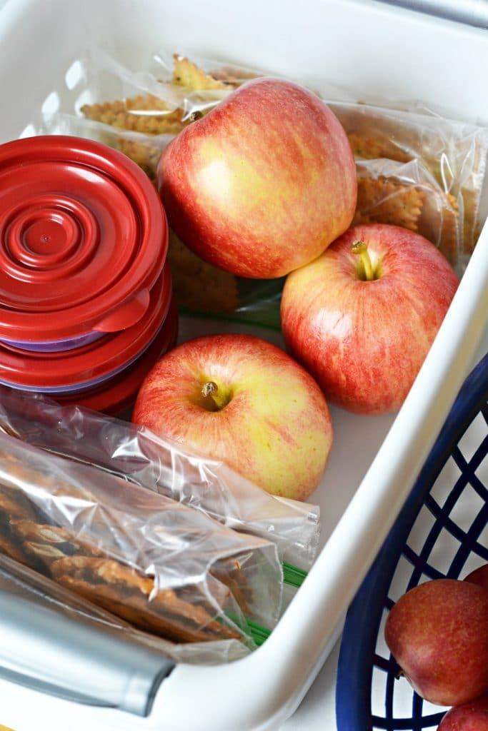 snack basket for summer