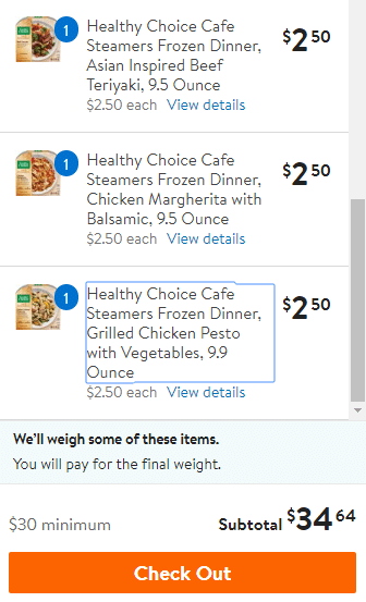 ordering freezer meals for the summer