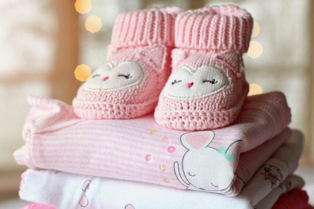 baby booties for a baby shower game