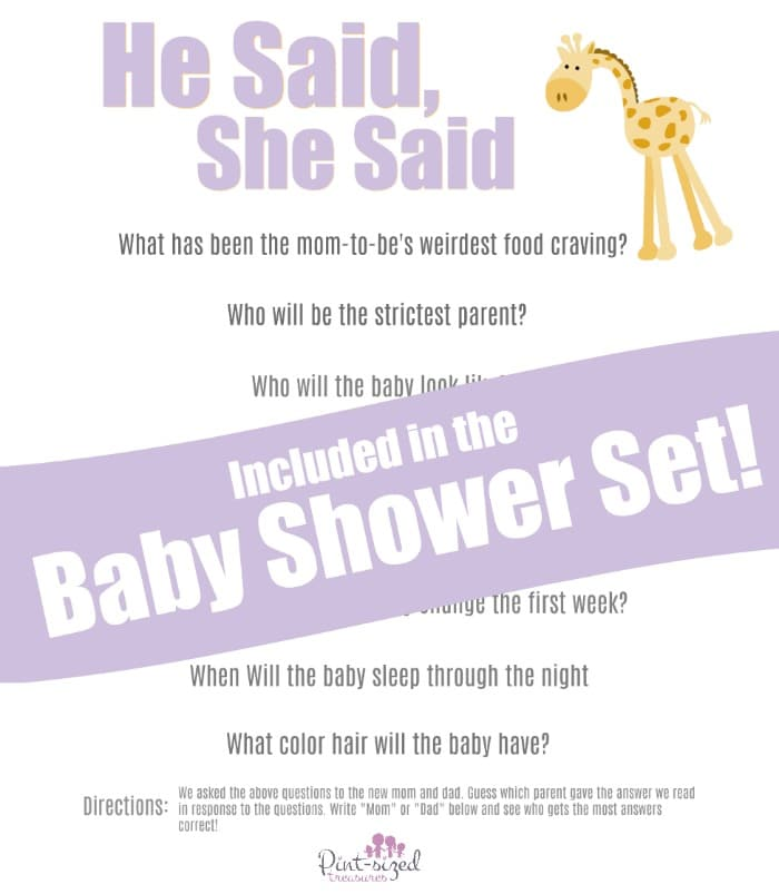 printable baby shower game