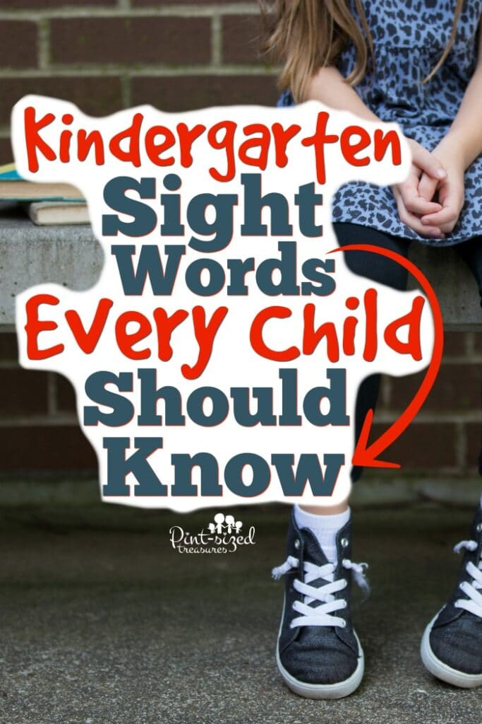 Kindergarten sight words every child should know