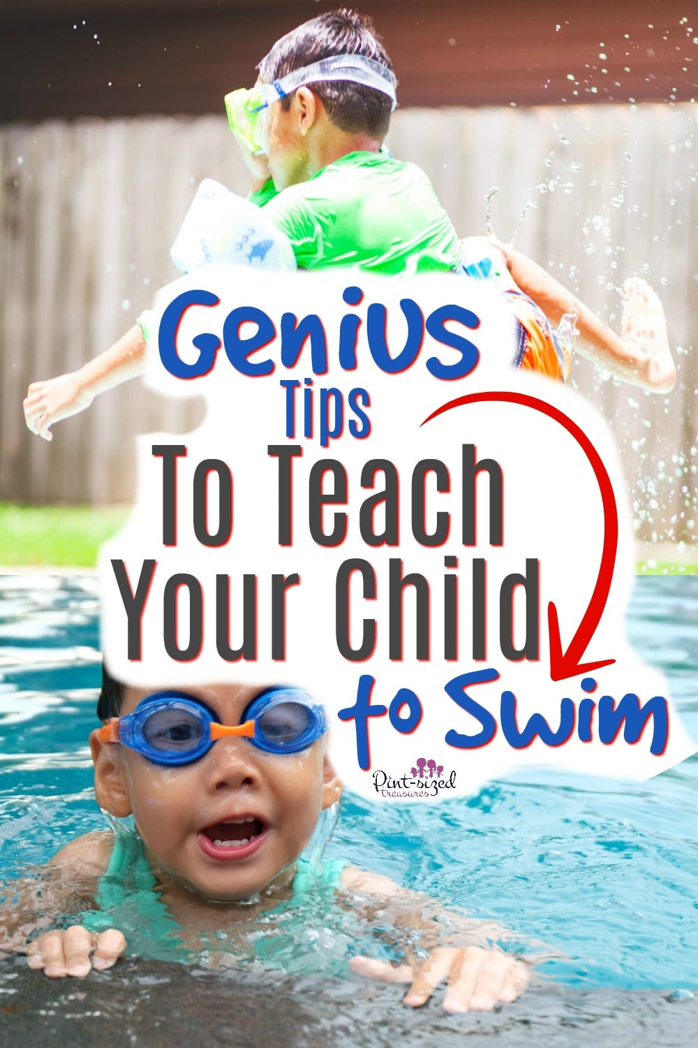 Genius tips to teach kids to swim