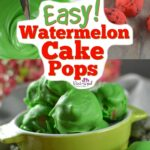 easy watermelon cake pop- recipe