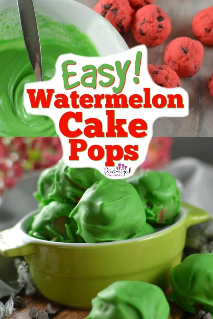 Totally Cute Watermelon Cake Pops
