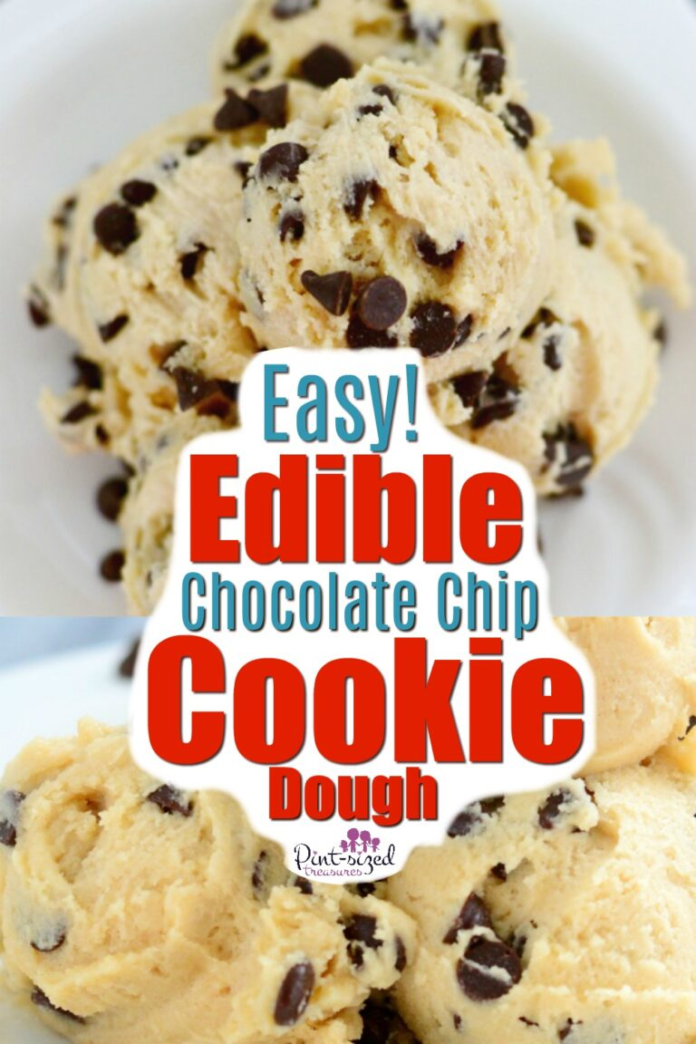 Edible chocolate chip cookie dough