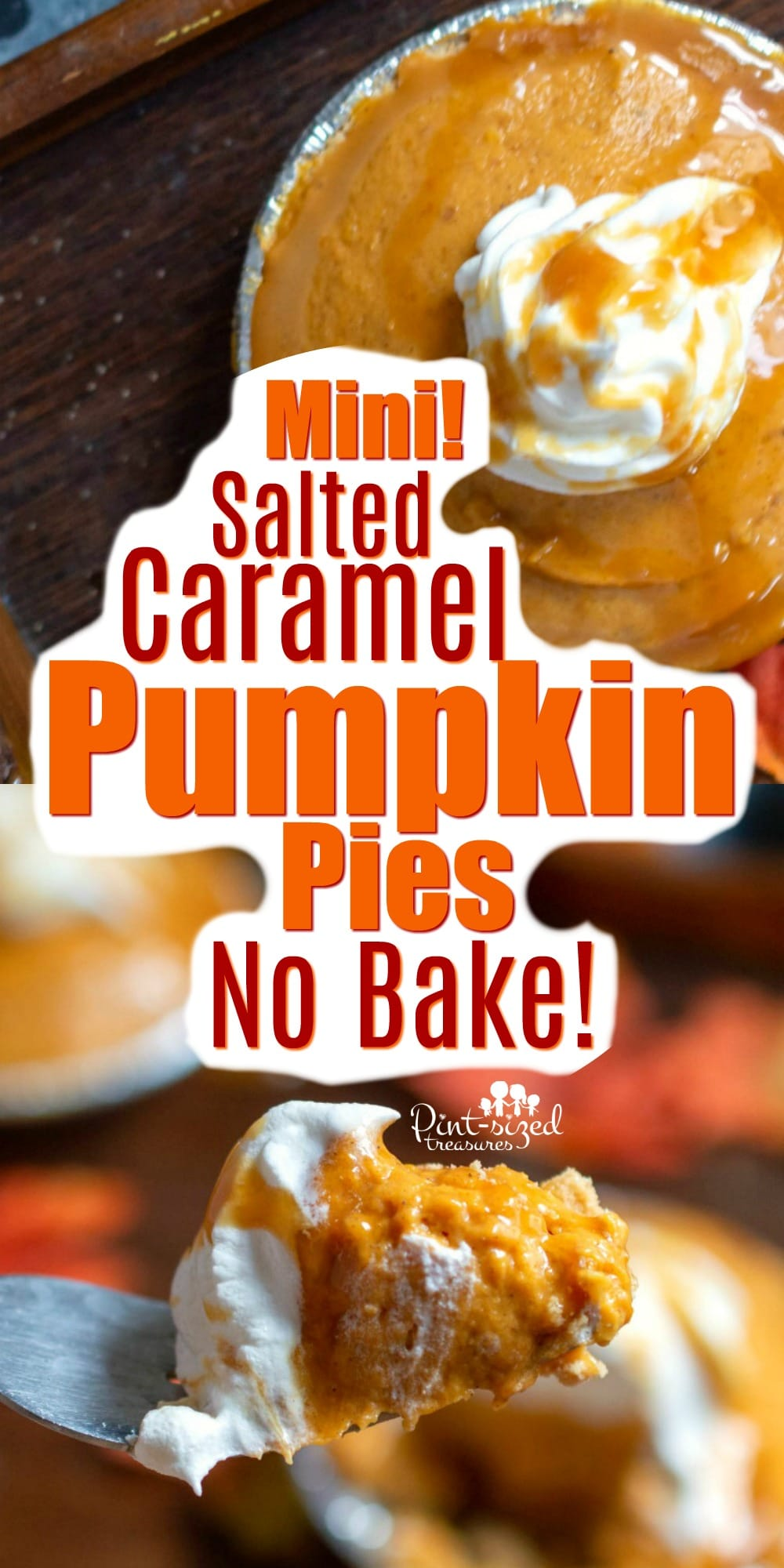 Mini Salted Caramel Pumpkin Pies recipe