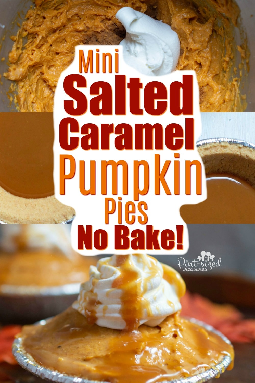 mini salted caramel pumpkin pie recipe