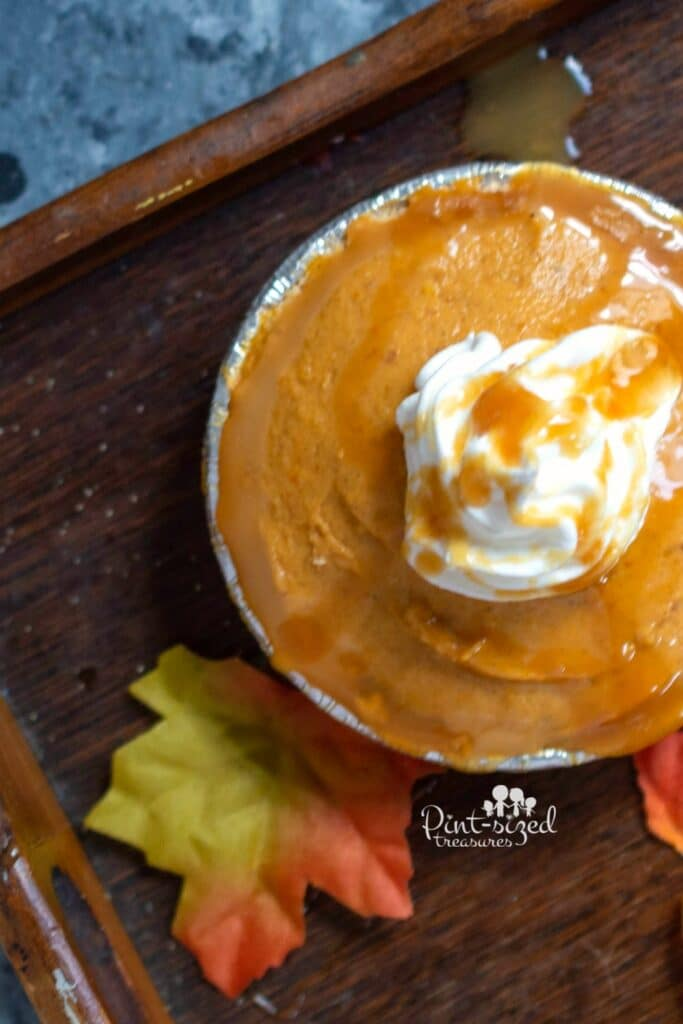 salted caramel pumpkin pie no bake